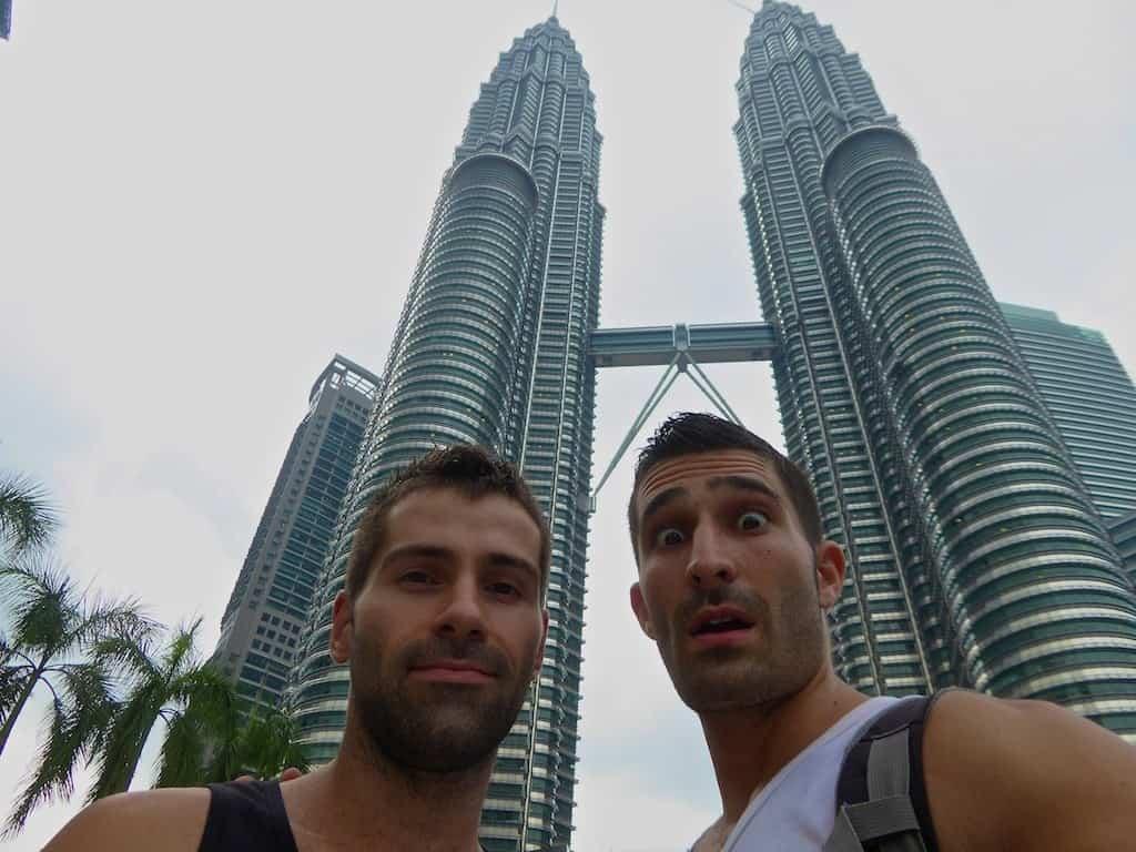 02 Petronas Twin Towers selfie, Kuala Lumpur, Malaysia, June 2015