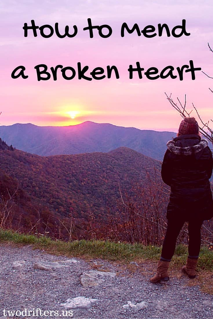 how to mend a broken heart - mountain sunset
