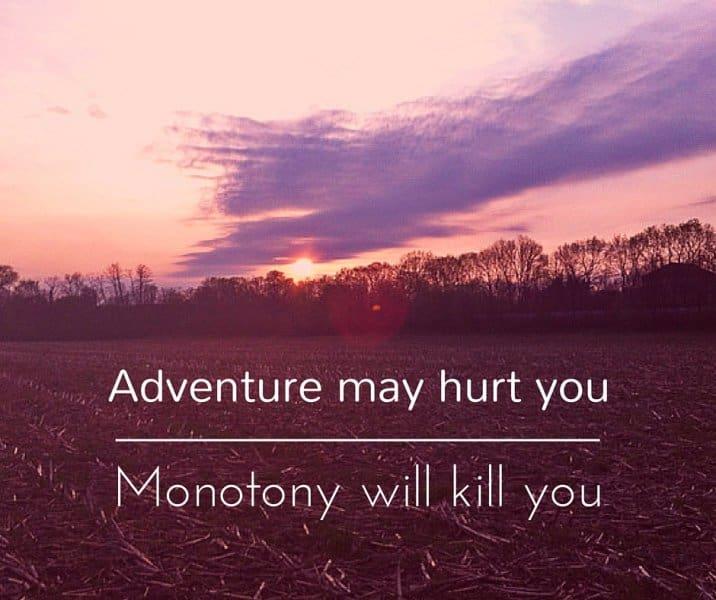 Adventure may hurt you